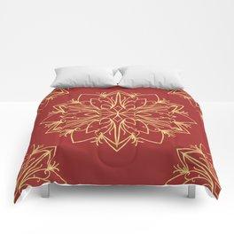 Golden Snowflake Comforters