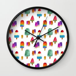 Ice Pops Wall Clock