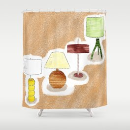 Seventies Lamp Foursome Shower Curtain