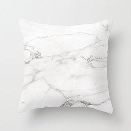 White Marble 006 Throw Pillow