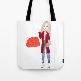 Street style girl Tote Bag