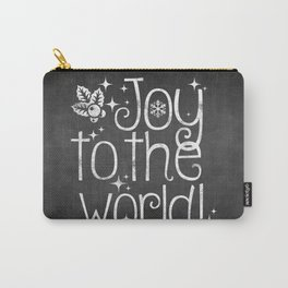 Joy to the world chalkboard christmas lettering Carry-All Pouch