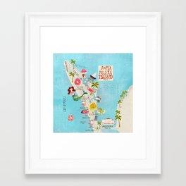 Anna Maria Island Map Framed Art Print