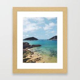 Summer in Donosita San Sebastian Spain Beach Framed Art Print