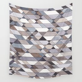Triangle Pattern no.22 grays Wall Tapestry