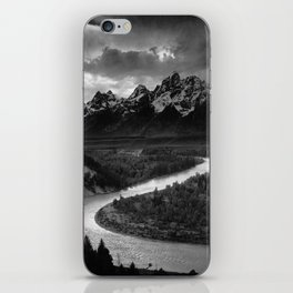 The Tetons and the Snake River | Wyoming | Ansel Adams iPhone Skin