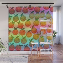 Freckle Cute Orange Wall Mural