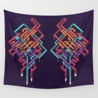 escher Wall Tapestries featuring Weave by Jon Ellis