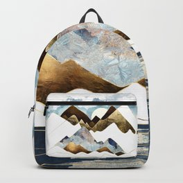 Minimal Abstract Mountains Backpack