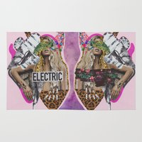 sia Area & Throw Rugs featuring ELECTRIC FANTA-SIA  by Vasare Nar