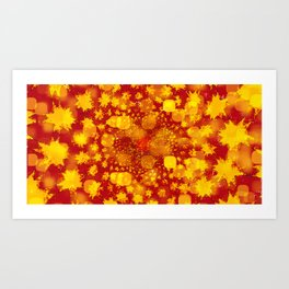 Abstract Yellows and Golds Art Print