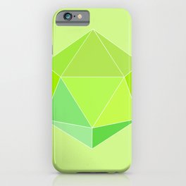 Geometric Abstract in Lime Green, Icosahedron. iPhone Case