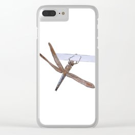Shy Little Dragonfly Clear iPhone Case