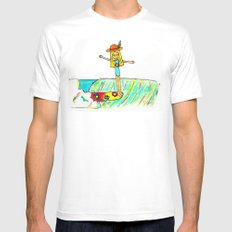 Hang 10 Lady Slider Mens Fitted Tee White MEDIUM