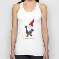 gnome Tank Tops featuring Gnome Love by Ink Tree Press by Erin Rippy