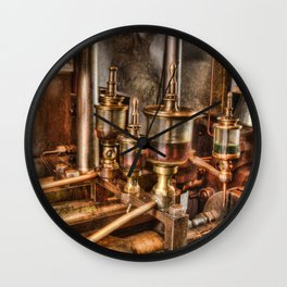 Steam engine oilers Wall Clock