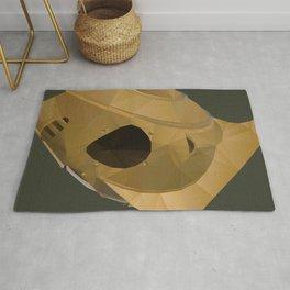 Rocketeer Helmet polygon art Rug