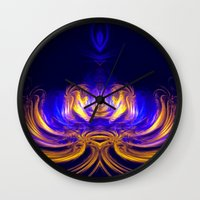 meditation Wall Clocks featuring Meditation by Art-Motiva