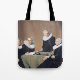 Johannes Cornelisz Verspronck - Group portrait of the regentesses of the St Elisabeths Gasthuis, Haa Tote Bag