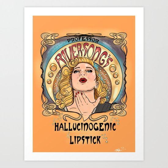 Professor River Song's Hallucinogenic Lipstick 3.0 Art Print