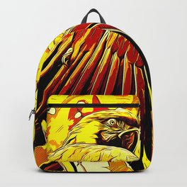 blue yellow breasted macaw parrot bird vector art ember Backpack