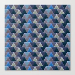 Blue Velvet Triangles Canvas Print