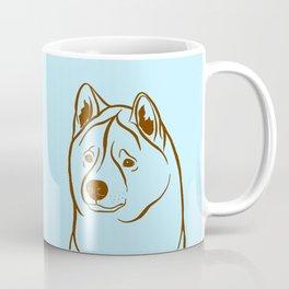 American Akita (Light Blue and Brown) Coffee Mug
