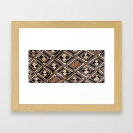 Kuba Cloth Design #1 Framed Art Print