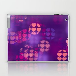love purple background of ball with hearts. Valentine's day. Laptop & iPad Skin