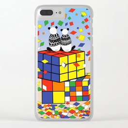 Rubix Panda Clear iPhone Case