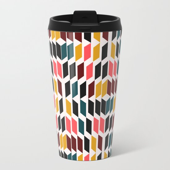 Geometric vision Metal Travel Mug