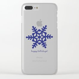 Snowflake. Happy Holidays. Christmas card Clear iPhone Case