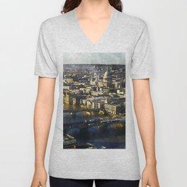 london-panorama-shard-city-view Unisex V-Neck
