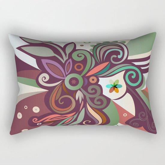 Floral curves II Rectangular Pillow