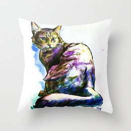 Ms. KittyLittleHead Throw Pillow