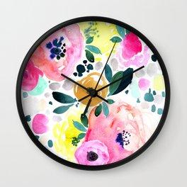 Wake Up Floral Wall Clock