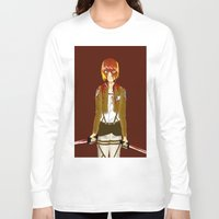 snk Long Sleeve T-shirts featuring Bloody Armin by Paula Urruti