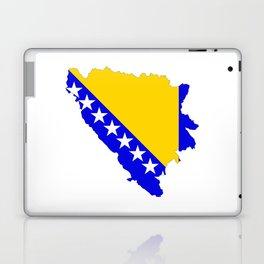 bosnia herzegovina flag map Laptop & iPad Skin