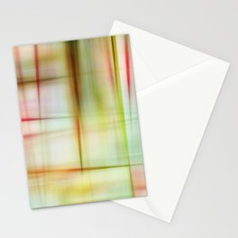 Abstract Plaid Quilt Stationery Cards