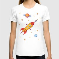 spaceship T-shirts featuring Spaceship! by Doodle Dojo