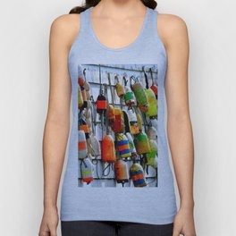 COLOURFUL FISHING FLOATS Unisex Tank Top