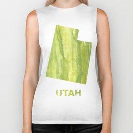 Utah map outline Biker Tank