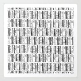 Feminist Bookshelves Art Print