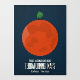 Terraforming Mars - Minimalist Board Games 02 Canvas Print