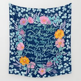 Let Your Light Shine- Matthew 5:16 Wall Tapestry