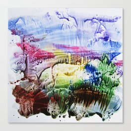 abstract composition of red and blue colours . artwork Canvas Print