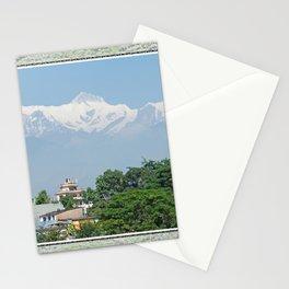 ANNAPURNA II AND LAMJUNG KAILAS FROM POKHARA NEPAL HIMALAYA Stationery Cards