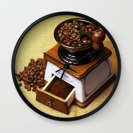 coffee grinder 3 Wall Clock