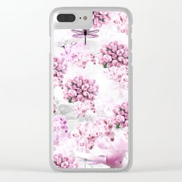 ORCHIDS ROSES MAGNOLIAS and Dragonflies Clear iPhone Case