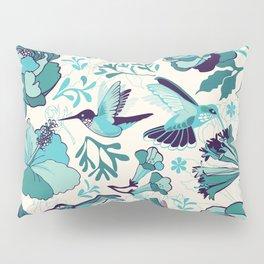 Hummingbird summerdance, Blue Pillow Sham